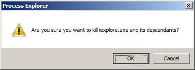Process Explorer Kill Chứng nhận